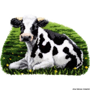 Vervaco Latch hook shaped carpet kit Cow resting, DIY