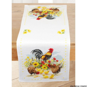 Vervaco Aida table runner stitch embroidery kit...