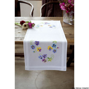 Vervaco table runner stitch embroidery kit Pretty...