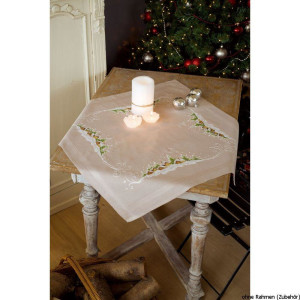 Vervaco tablecloth stitch embroidery kit kit Village in...