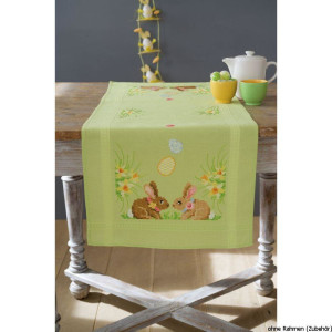 Vervaco table runner stitch embroidery kit Easter...