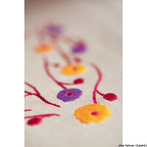 """Vervaco table runner stitch embroidery kit """"flower..."""