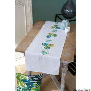 Vervaco table runner stitch embroidery kit Botanical...