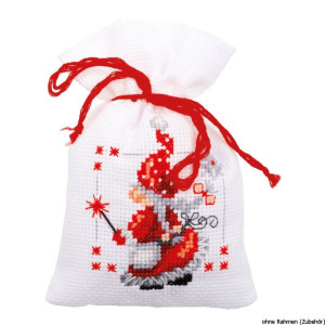 Vervaco counted herbal bags stitch kit Christmas elves...