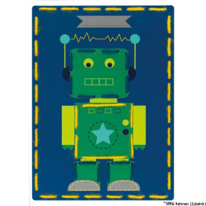 """Vervaco embroidery cards stitch kit """"robot &..."""