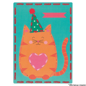 """Vervaco embroidery cards stitch kit """"cat &..."""