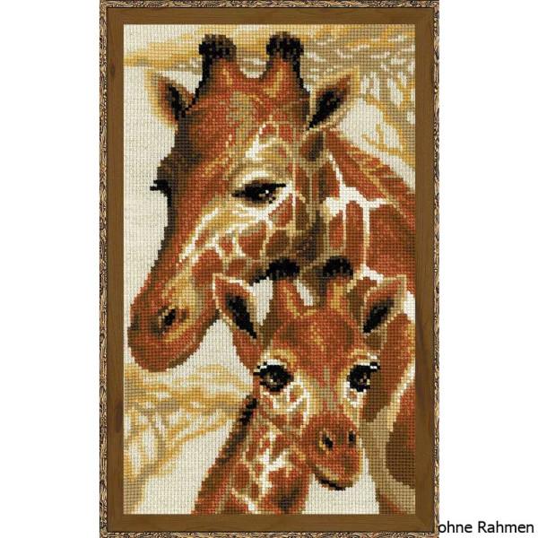 Giraffe /& Baby Counted Cross Stitch Kit Wildlife//Animals
