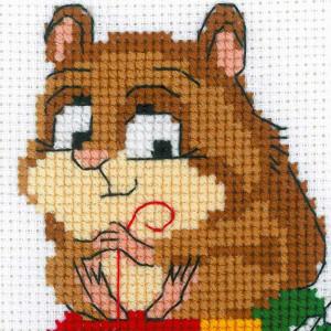 """Riolis Stickbild-Set Kreuzstich """"Hamster und..."""