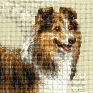 Riolis counted cross stitch Kit Sheltie, DIY